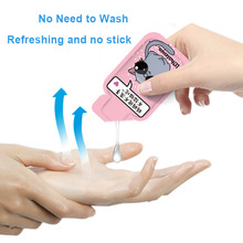 48pc 75% Alcohol Antibacterial Hand Sanitizer Portable Wash Free Quick-Dry Hand Sanitizing Individual Cartoon Package Kids Adult
