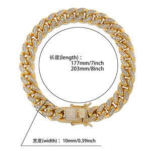 Image 5 - Topgrillz 10mm miami cubana corrente pulseira cobre ouro prata cor iced para fora micro pave cz pulseiras hip hop masculino jóias presentes
