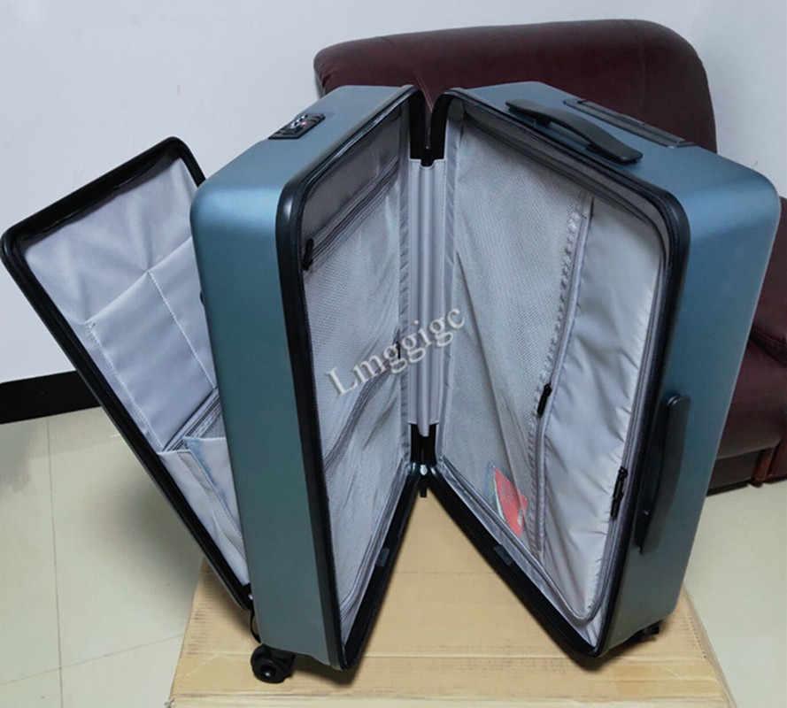 Gehobenen PC Reise Koffer Koffer, Roll Gepäck mit Laptop tasche, Universal rad Trolley box, männer Business Datei paket