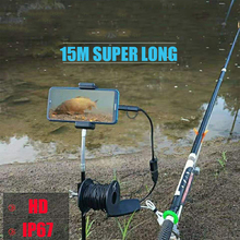 15M + HD + подводный + камера + 3 + IN + 1 + провод + соединение + водонепроницаемый + 8 мм + объектив + камера + эндоскоп + рыба + искатель + рыбалка + инструмент + для + смартфонов + телефонов
