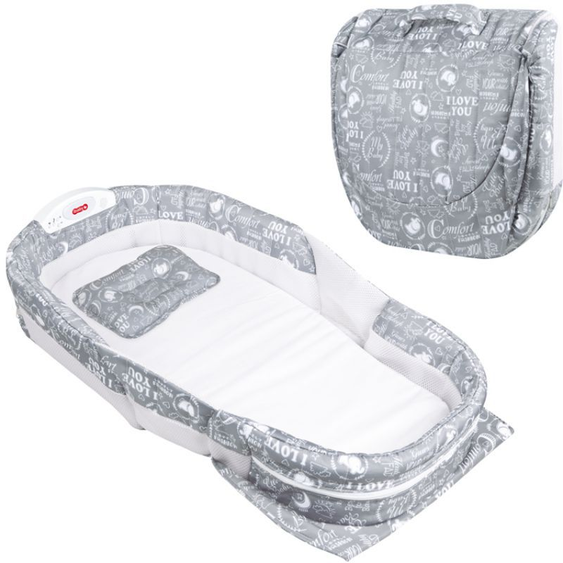New Baby Bed Folding Portable Multi-Function With Music Night Soft Comfortable Mattress For Baby Boy Girls
