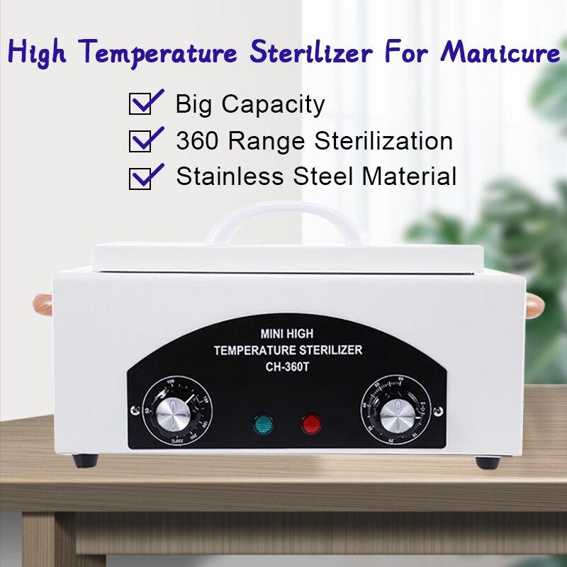 High Temperature Sterilizer Manicure For Nail Art Tools Nail Salon Sterilizer Box Disinfection Box Dry Heat Manicure Machine