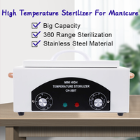 High Temperature Sterilizer Manicure For Nail Art Tools Nail Salon Sterilizer Box Disinfection Box Dry Heat Manicure Machine