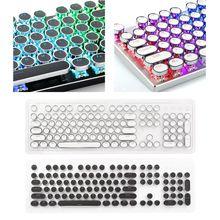 104 Keys Retro Round Keycaps Double Shot DIY Steam Punk Steampunk Typewriter Keycaps for Backlit Classy Player Stylized