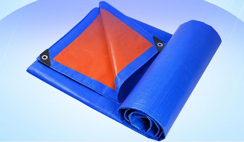 Customize 3mX4m blue and orange outdoor covered canvas, tarp, rain tarpaulin, truck tarp, sun  cover
