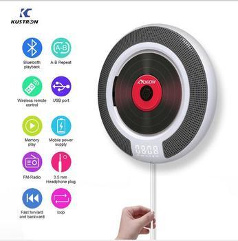 Kustron new KC 806 CD player Portable Prenatal English Learning Walkman CD Repeater Support bluetooch Wireless Remote Control