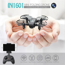 все цены на IN1601 Mini RC Drone with Camera Wifi FPV Foldable Altitude Hold Quadcopter Remote Control Helicopter Toys Plane for children онлайн
