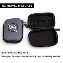 ¡Buen embalaje! EZ Tattoo-Mini funda Estuche De Viaje forma de rectángulo protección portátil, estuche rígido con logotipo EZ cremallera para equipo de tatuaje