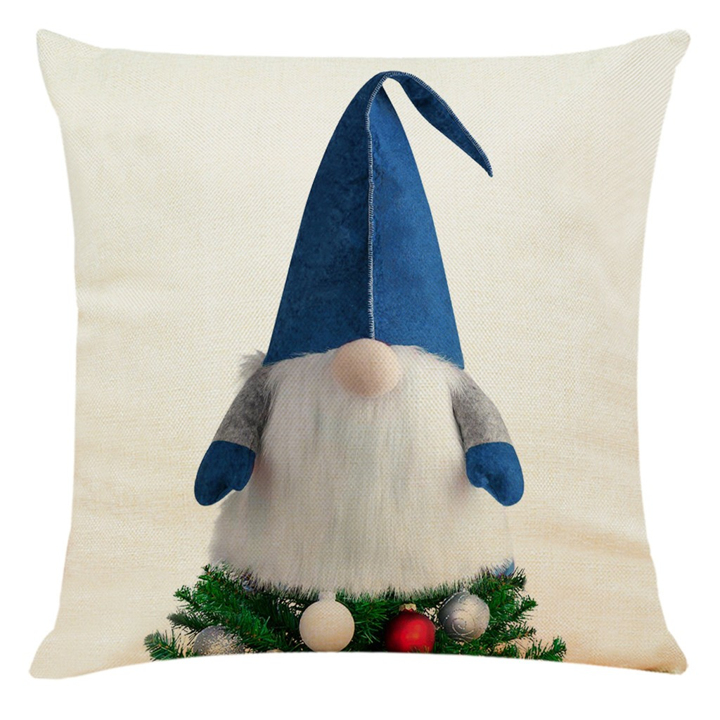 Gnome Christmas Pillow Case Art Cotton Linen Sofa Car Throw Cushion Cover Home Decor Office 45X45cm Quality Print Technology XJ
