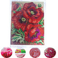 2018 new arrive 5D Needlework Diy Diamond Painting Cross Stitch flower Diamond Embroidery Print round Drill Home Decor for gift