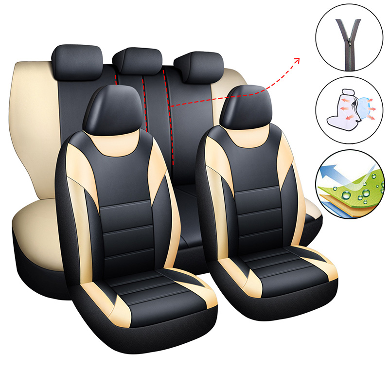 Car <font><b>Seat</b></font> <font><b>Cover</b></font> Set Universal <font><b>Covers</b></font> Auto Accessories for <font><b>Toyota</b></font> 4runner Auris 2017 Touring Sports Avensis <font><b>2007</b></font> T25 T27 Caldina image