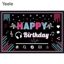 Yeele aniversário nota musical colorido bolinhas bebê fotografia pano de fundo fotográfico decoração fundos para estúdio de fotos