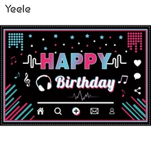 Yeele誕生日音符カラフルな水玉赤ちゃんの写真の背景写真装飾写真スタジオの背景