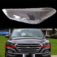 Для hyundai tucson- передние фары прозрачные абажуры лампы оболочки маски фары крышка объектива фары стекло