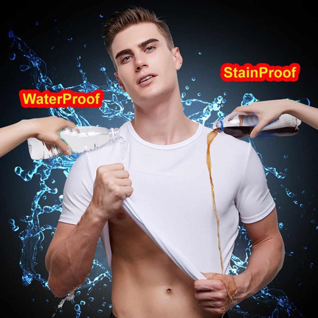 男性防水通気性防汚 Tシャツプラスサイズ半袖サイクリング疎水性ノベルティ特大トップス # D