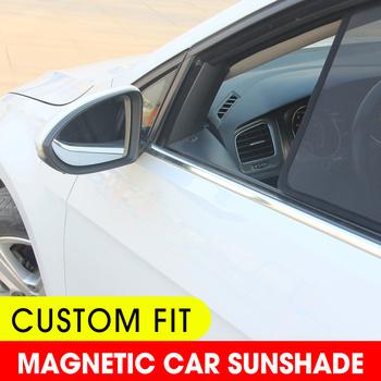 Dla Mazda CX-5 CX5 2012-2017 cieniowanie magnetyczne zasłony przeciwsłoneczne w cieniu samochodu przez słońce szyby akcesoria produkty tanie i dobre opinie wenlo z włókien syntetycznych CN (pochodzenie) Zwykłe For Mazda CX-5 2012-2017 Side Window Shades Customized Car Window Sun Shade