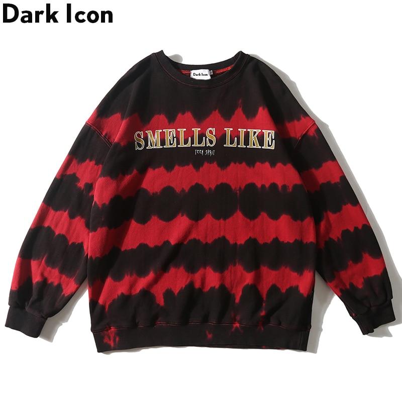 Dark Icon Striped Tie Dying Sweatshirt Men 2019 Autumn New Fashion Men 39 s Sweatshirts Street Sweatshirt in Hoodies amp Sweatshirts from Men 39 s Clothing