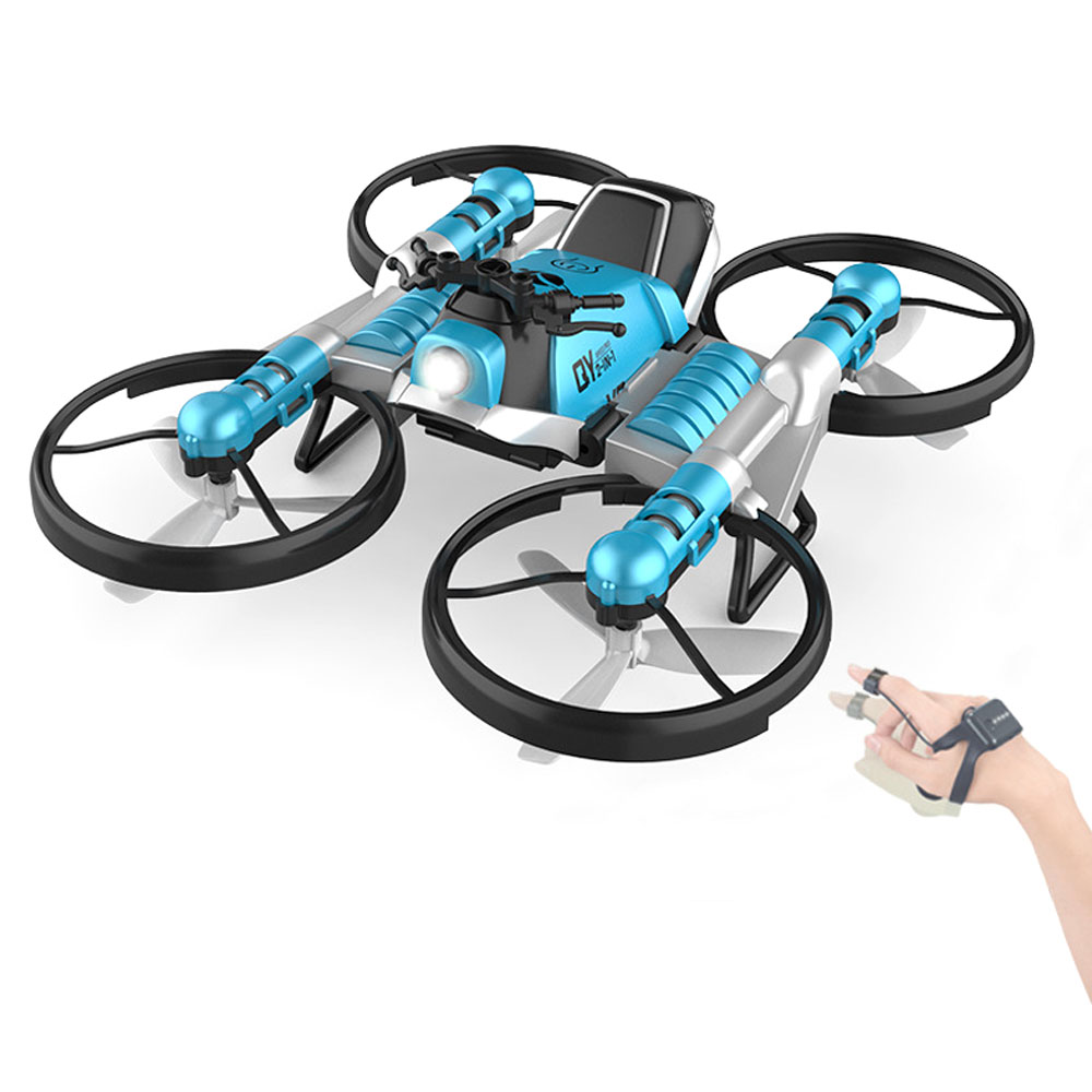2 In 1 WiFi FPV RC Deformation Drone Motorcycle Foldable Helicopter Camera 0.3MP Altitude Hold RC Quadcopter Motorcycle Drone