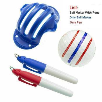 1Set Golf Ball Liner Alignment Line Marker Marks Template Draw New Design Swing