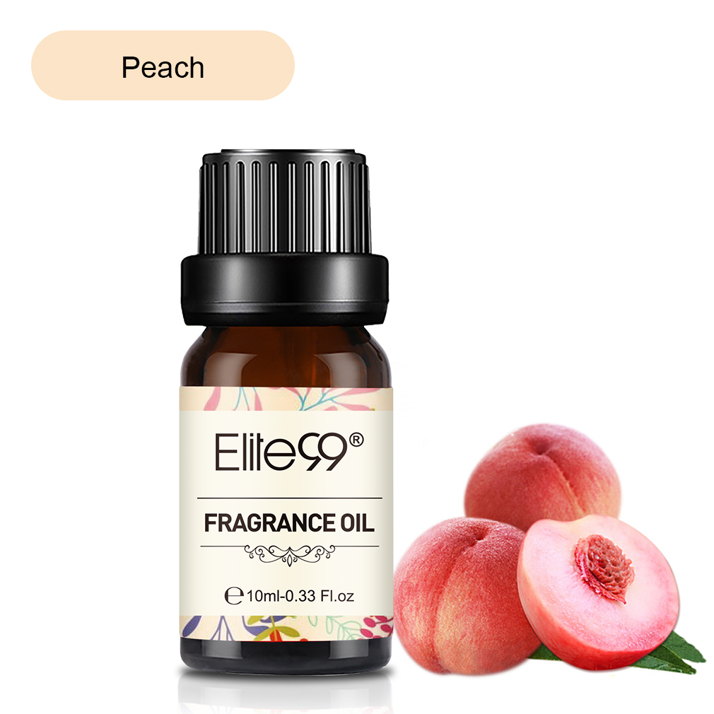 Elite99 10ml Peach Apple Natural Fragrance Oil For Aromatherapy Humidifier Air freshening Passion Fruit Citrus Essential Oil