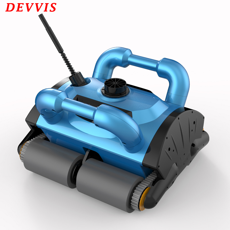 EU Warehouse Pool Cleaner Robot , Robot Swimming Pool Vacuum Cleaner With Wall Climbing and Remote Control image