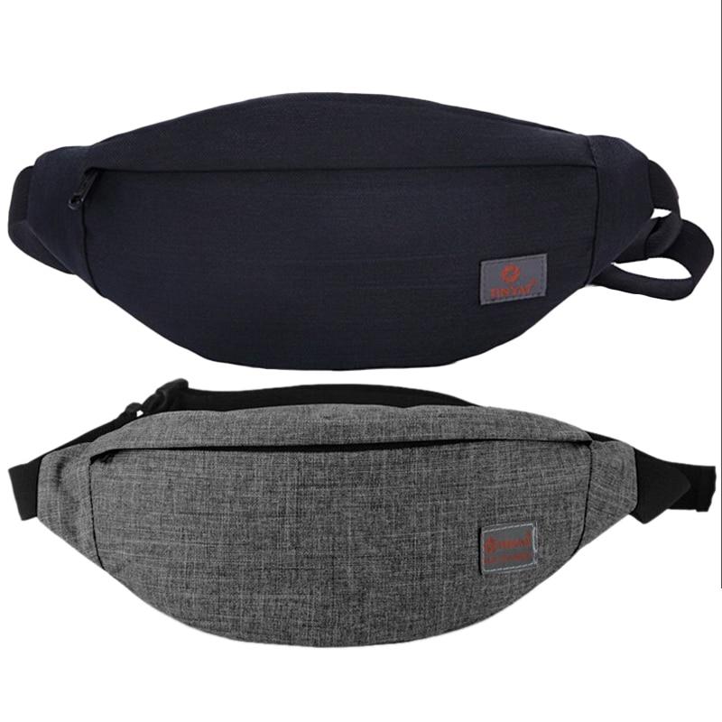 BEAU-Tinyat 2 Pcs Men Male Casual Functional Fanny Bag Waist Bag Money Phone Belt Bag T201 Canvas Hip Bag Shoulder Belt Pack, Gr