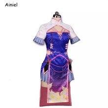 2020 yeni sıcak oyun OW D. R e r e r e r e r e r e r e r e r e r e Cosplay DVA kostüm kadın kıyafetleri elbise seksi Cheongsam cadılar bayramı kostüm kadınlar kızlar için