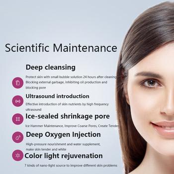 7 w 1 Hydra dermabrazja Peel czysta pielęgnacja skóry BIO Light RF próżniowa twarz do oczyszczania wody strumień tlenu obieraczka Hydro tanie i dobre opinie VamsLuna CN (pochodzenie) Z tworzywa sztucznego Odmładzanie skóry Nawilżanie skóry Galwaniczny jon + - do czyszczenia twarzy