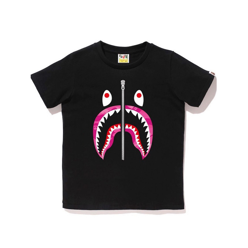 2019 Summer New Style Japanese-style Popular Brand Classic Pink Teeth High Quality Pure Cotton Short-sleeved T-shirt