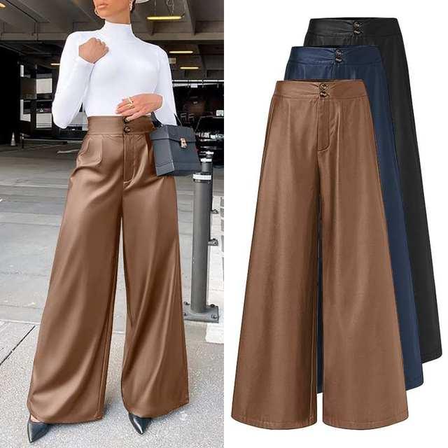 Leather Long Pants  1