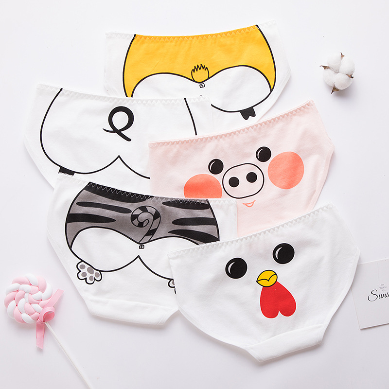 SP&CITY Cartoon Animals Printing Seamless Underwear Women Sexy Panties For Menstruation Girl Comfortable Briefs Lingerie Tanga