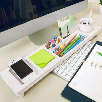Desktop Organizer Storage Rack Desk Shelf Office Supplies Phone Keyboard Pen Partition Table New