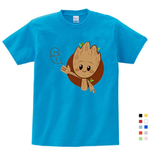 Boy Summer Short Sleeve Cotton Cartoon Tee Tops Clothes Children Groot Print T-shirt Girl T-shirt Baby T Shirts Free Shipping потолочный светильник novotech pipe 370397