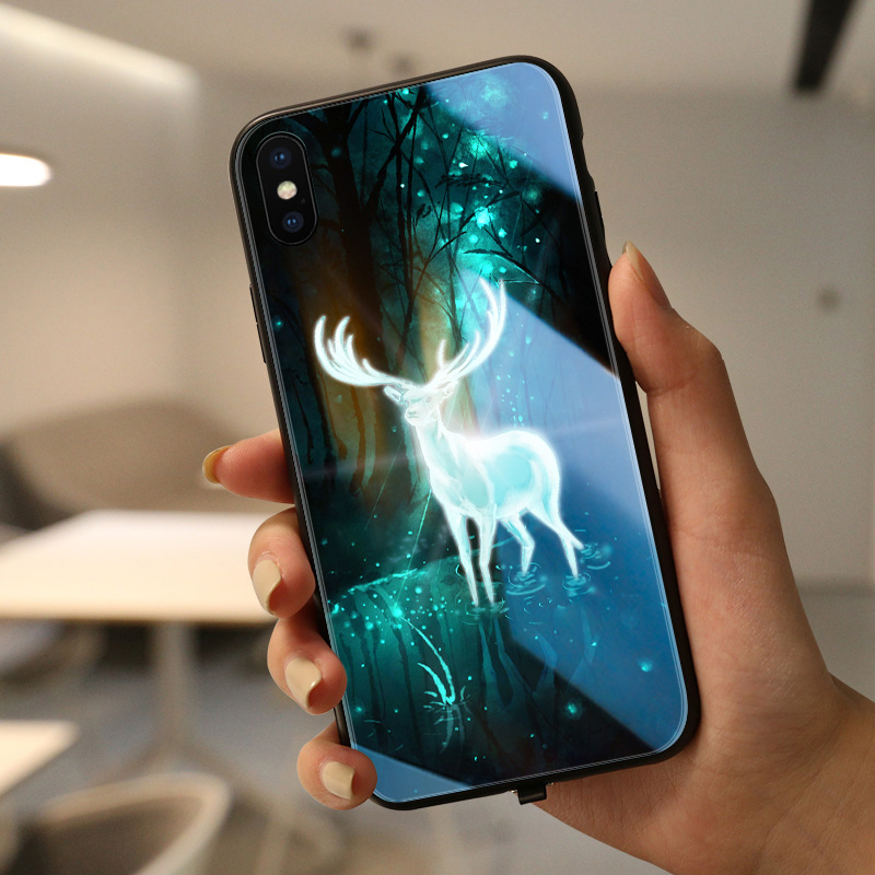 Animal case Pika Pika mofi case for iphone huawei LED shine case