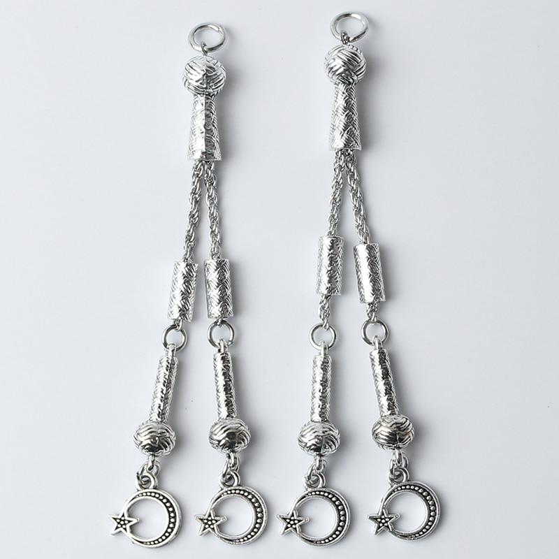 2 шт. 9 см поп индейка Звезда Луна четки кулон DIY браслет ожерелье ювелирные изделия аксессуары