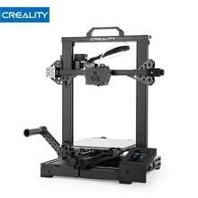 Creality kit de impressora 3d CR-6 se equilíbrio automático silencioso placa-mãe escondido potência retomar impressão 4.3 na tela toque com alça