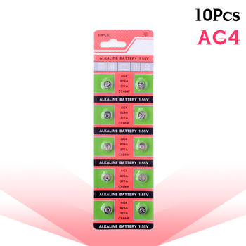 10pcs/pack Cell Coin Alkaline Battery 1.55V AG4 LR626 377A SR626 LR66 177CX66W For Gadgets Watches C
