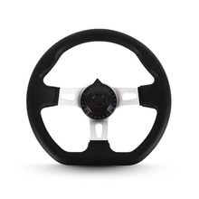 270mm For Go Kart Vehicle Hardware PU Foam Accessories Interior Steering Wheel 3 Spokes Universal Classic Replacement With Holes(China)