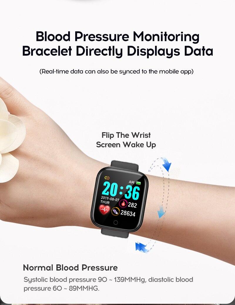 H27ff9903ffbd4222b0cc669fb78621dbD Smart Watch Blood Pressure Smartwatch Tracker Heart Rate Fitness