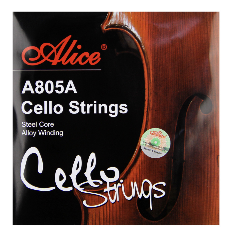 Alice A805A Cello Strings Steel Core  Nickel Chromium Wound  Nickel-Plated Ball-End