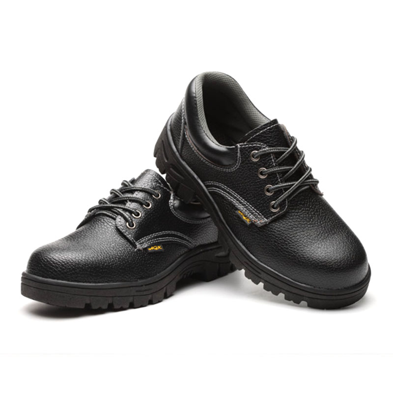 High Fashion Black Waterproof Breathable Anti-slip Shoes with Steel Toe Cap Safety Shoe Boots Workplace Protective Supplies image