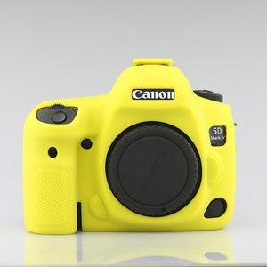 Image 5 - سيليكون درع حالة الجلد الجسم غطاء حامي مضاد للانزلاق الملمس تصميم لكانون EOS 5D مارك الرابع 4 5D4 DSLR كاميرا فقط
