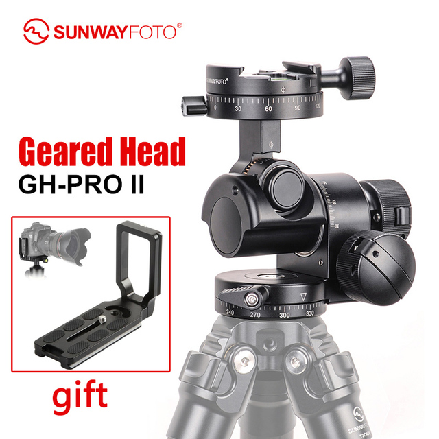 SUNWAYFOTO GH PRO II For Sony Nikon Canon DSLR Camera Panorama Head Arca Swiss Tripod Gear Head Panoramic Head
