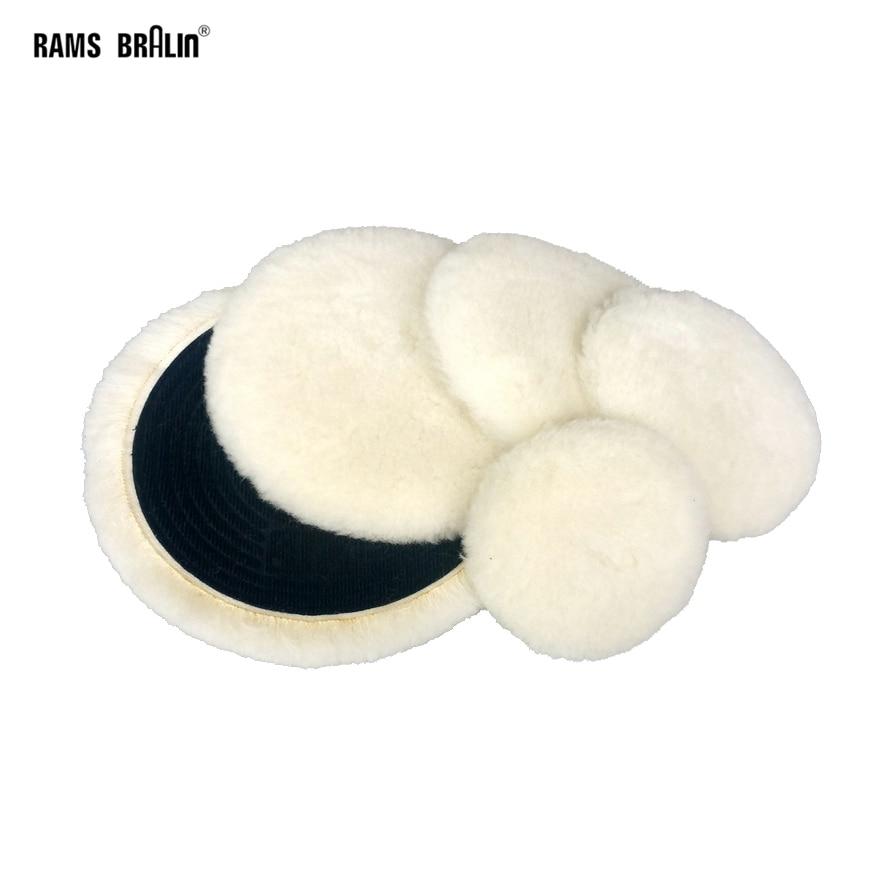 """1 pièce 3 """"-5"""" qualité supérieure tricot tampon de polissage auto-adhésif laine polissage roue voiture moto peinture soins"""