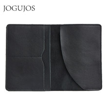 JOGUJOS Luxury Genuine Leather Passport Holder Wallet Women Men Passport Cover Purse Credit&Id Card Pouch Embossed Travel Wallet(China)