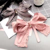 Korean Japanese Spring Simple Handmade Lace Cloth Bow Tie Barrettes Girl Women Fashion Headwear Headdress Hair Accessories