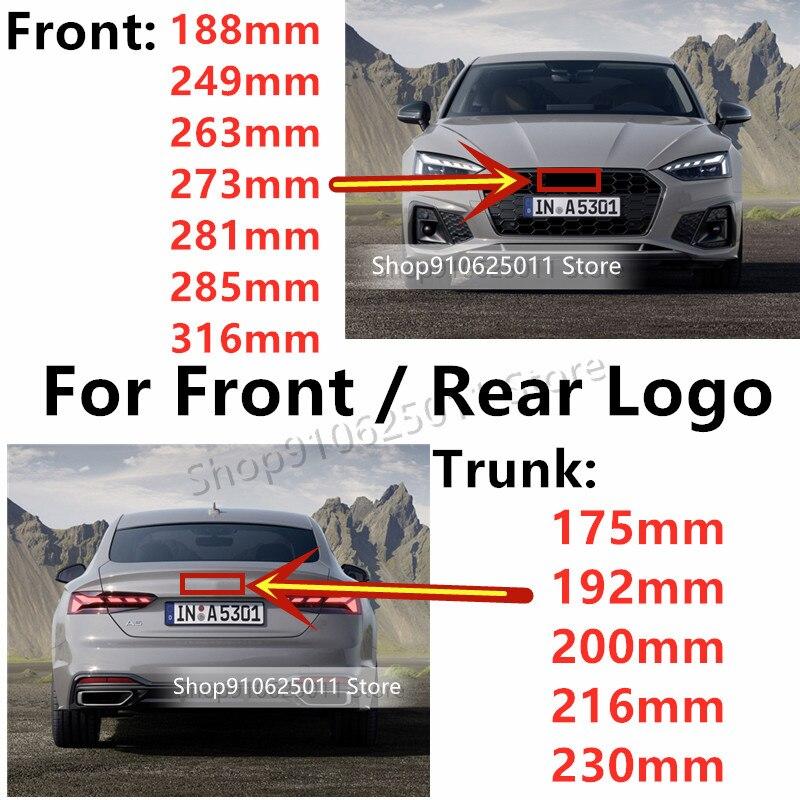 Глянцевый черный эмблема логотип для Audi A3 A4 A4L A6L TT Q3 Q5 Q7 A5 A7 RS3 RS4 RS5 RS6 Передняя средняя кольца решетка эмблема на багажник Стикеры