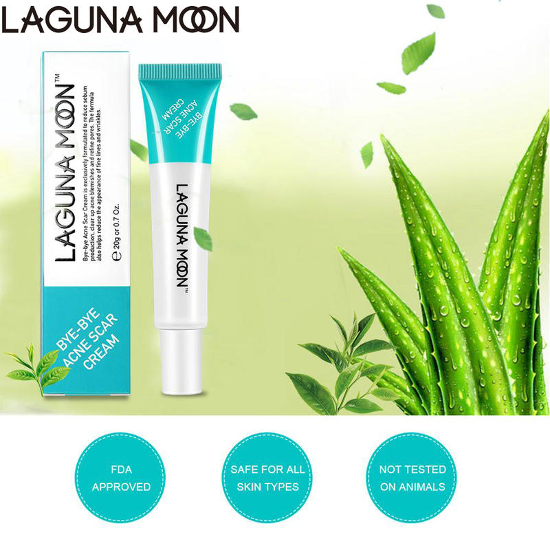 LAGUNAMOON Acne Treatment Scar Cream 20g Natural Aloe Vera Gel Acne Treatment Reduces Redness Skin Care