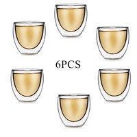 2021 vetro a doppia parete trasparente fatto a mano resistente al calore tazze per bevande da tè tazza per bevande salutari tazze da caffè bicchiere isolato