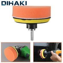 "7Pcs Glass/Car Polishing 3"" Polishing Head Wave Sponge Polishing Pad Wheel Buffing Pad Set with M10 Drill Adaptor Electric Drill"